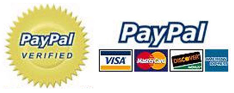 We accept all major debit and credit cards, paypal and direct bank wire transfer